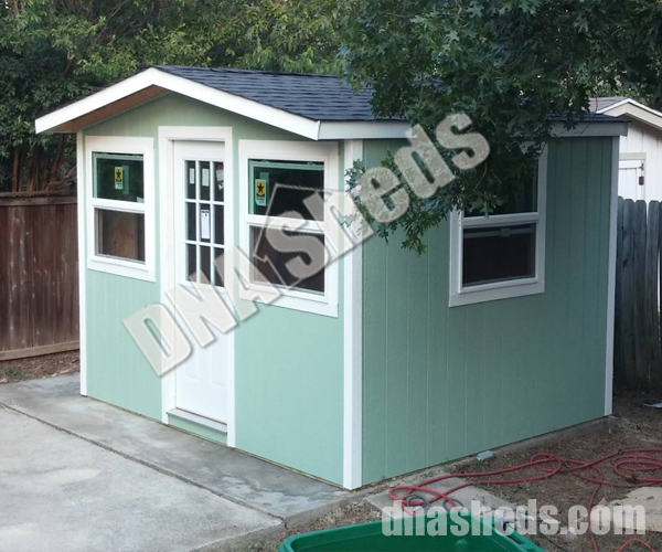 10 X 12 X 9 FT Tall A Frame Shed. One foot eave off front. Built in Austin TX. Thanks for the Whataburger guys. & Backyard Storage Sheds Playhouses Build for You New Braunfels ...