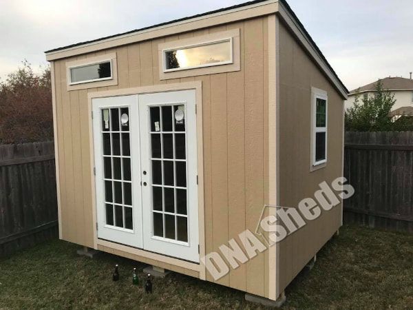 10 x 12 x 9 tall lean to shed built in pflugerville texas yes it is a shed to be used as another man cave - Garden Sheds With Lean To