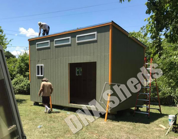 Superbe 10 X 20 X 12u0027 Tall Lean To Shed Built To Be An Office/studio In Austin,  Texas.