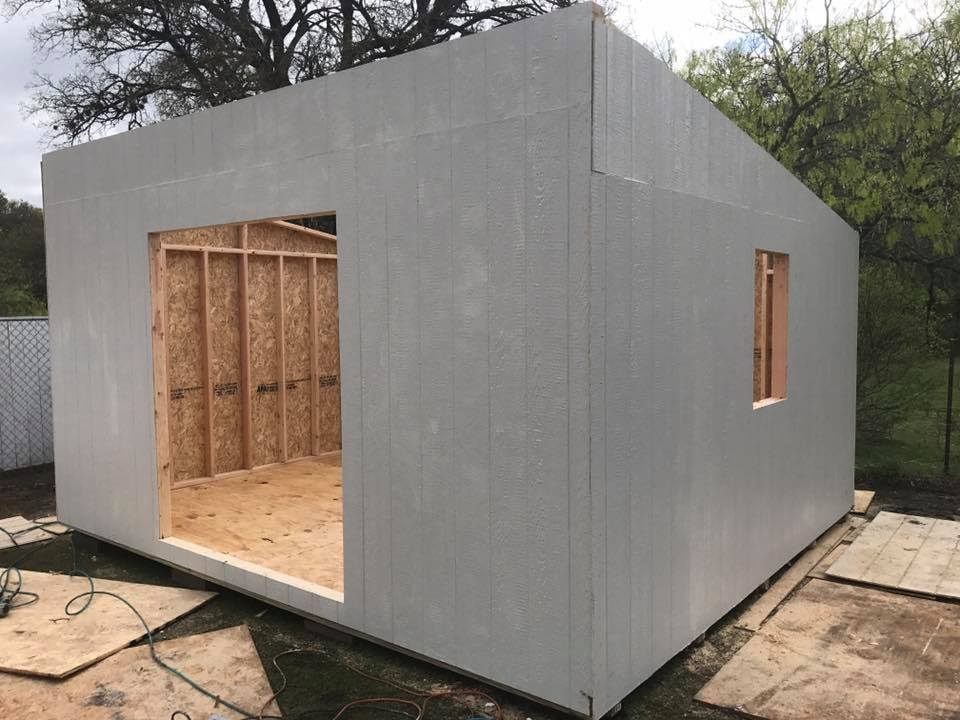 14 X 16 X 9u0027 Tall Lean To Shed Built In Seguin, Texas
